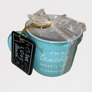 Teacher Blue Mug & Keychain Gift Set